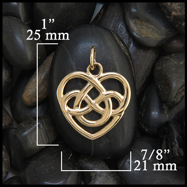 Celtic gold heart