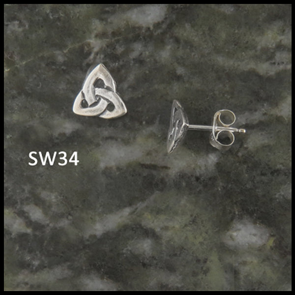 Triquetra Post Earrings in Silver