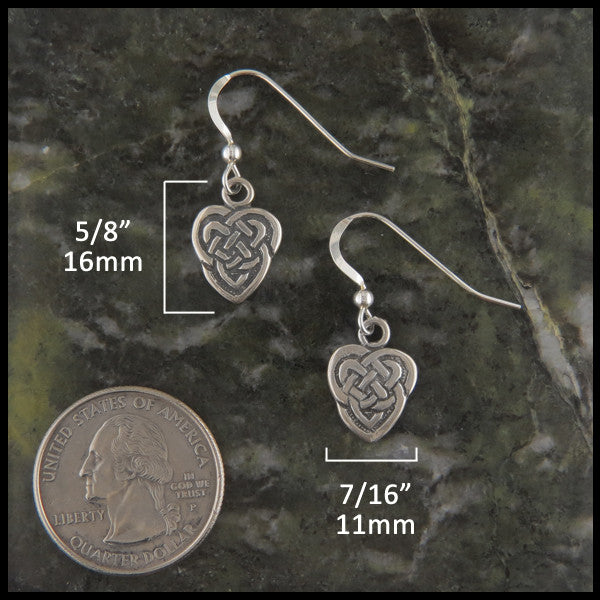 Maggie's Heart pendant and earring set in Sterling Silver