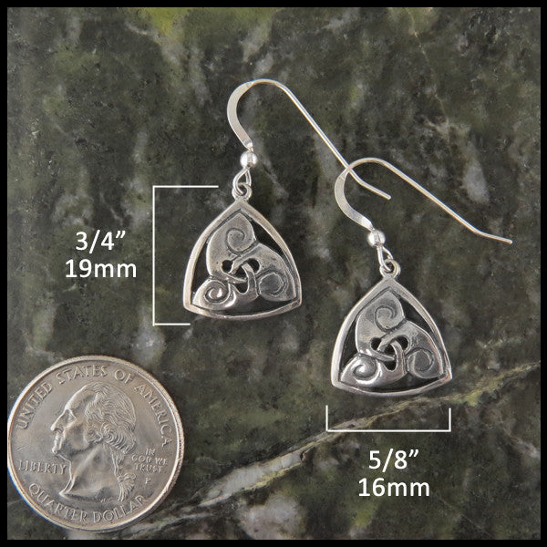 Triskele earrings in Silver