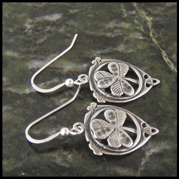 Shamrock trinity Drop earrings in Sterling Silver