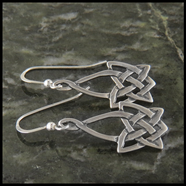 Celtic Knot drop earrings in Sterling Silver
