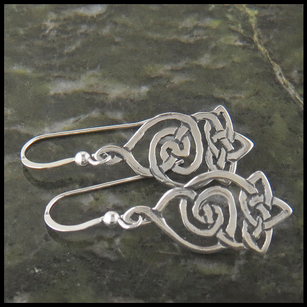 Corryvrecken Celtic Drop earrings in Sterling Silver