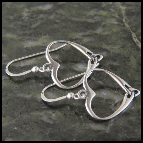 Trinity Heart Earrings in Sterling Silver