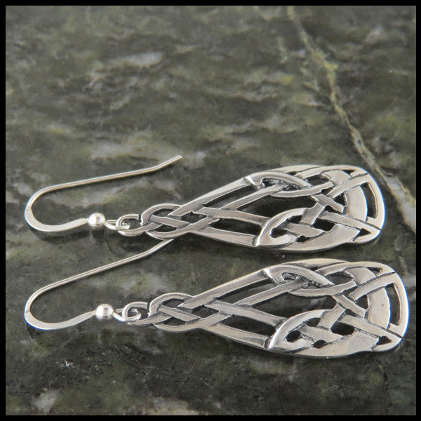 Art Nouveau Knot drop earrings in Sterling Silver