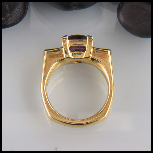 Purple Spinel in 18K Yellow Gold
