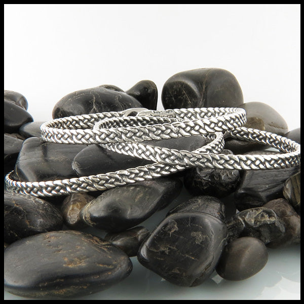 Josephine's Knot Bangle Bracelet in Sterling Silver