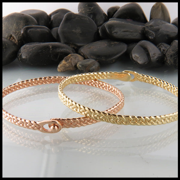 Josephine's Knot Bangle Bracelet in 14K Gold