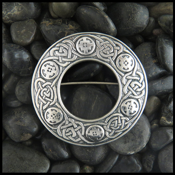 Celtic Knotwork Brooch in Sterling Silver
