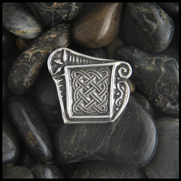 Unique Celtic Knot pin in Sterling Silver