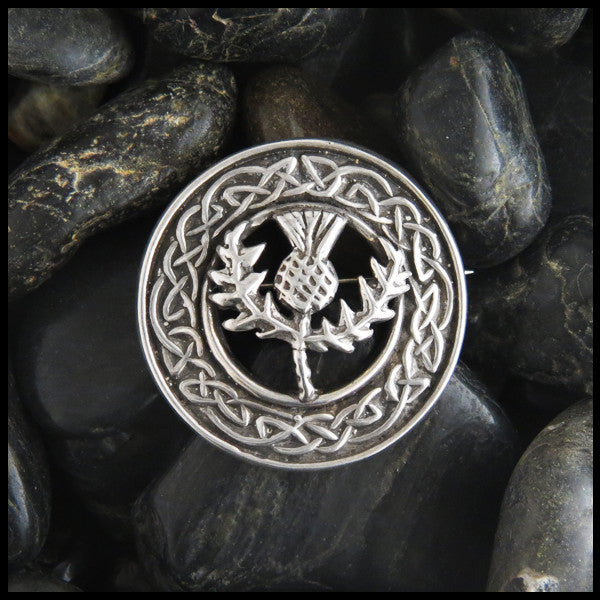 Scottish Thistle Brooch in Sterling Silver