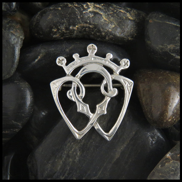 Small Scottish Luckenbooth brooch in Sterling Silver