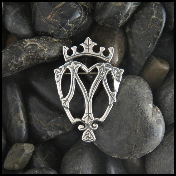 Scottish Luckenbooth brooch in Sterling Silver