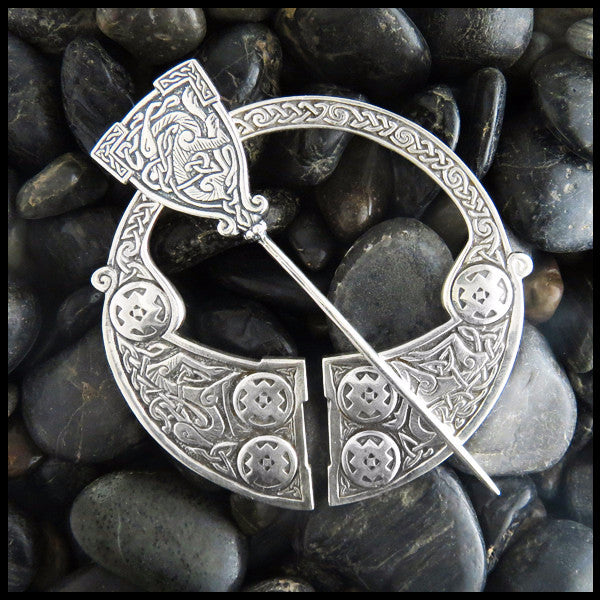 Penannular Brooch, Penannular, Brooch, Fibula, Heron, Celtic, Herons, Crosses, Cross, Medallion Crosses, Sterling Silver