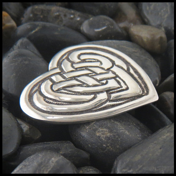 Celtic Heart brooch in Sterling Silver