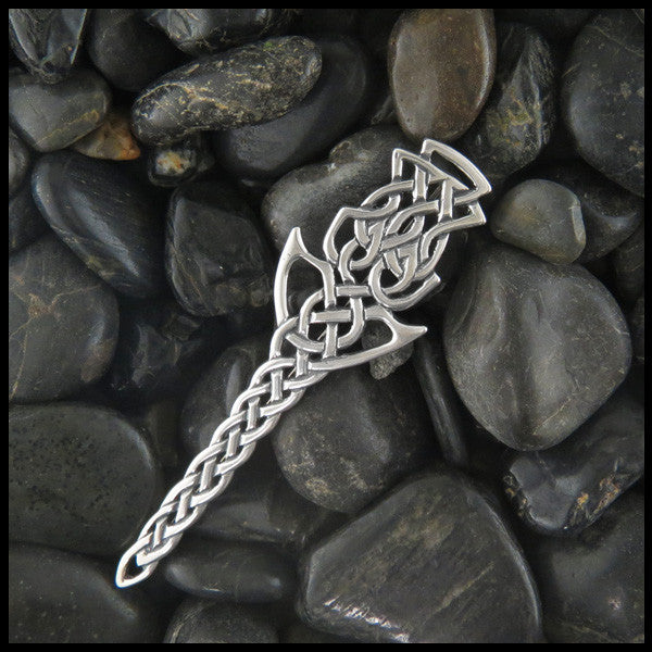 Scottish Thistle Kilt pin in Sterling Silver