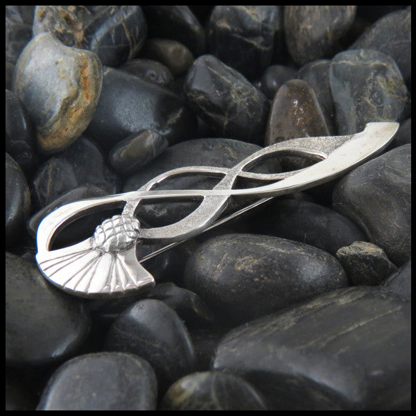Sterling Silver, Kilt Pin, Sterling Silver Kilt Pin, Sterling Silver Kilt Pin with Thistle, Celtic Kilt Pin, Silver, Jewelry, Men's Jewelry, Women's Jewelry