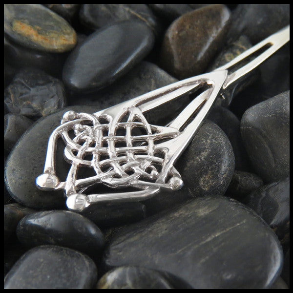 Sterling Silver, Kilt Pin, Sterling Silver Kilt Pin, Sterling Silver Open Knotwork Kilt Pin, Celtic Kilt Pin, Silver, Jewelry, Men's Jewelry, Women's Jewelry, Open Knotwork Kilt Pin, Open Knotwork