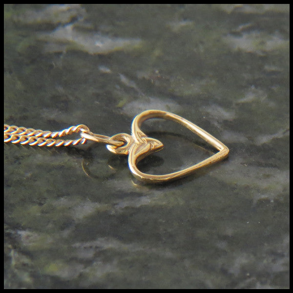 Dainty Celtic Heart pendant in 14K Gold