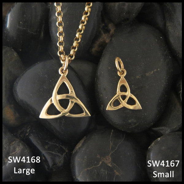 Triquetra pendants in 14k gold walker metalsmiths celtic jewelry triquetra pendant in 14k gold mozeypictures Image collections