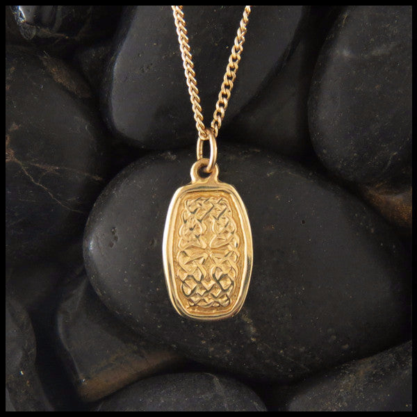 Celtic knot pendant in 14k gold walker metalsmiths celtic jewelry dainty celtic knot pendant in 14k yellow rose and white gold mozeypictures Image collections