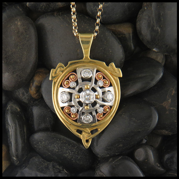Gold and Diamond Celtic Pendant