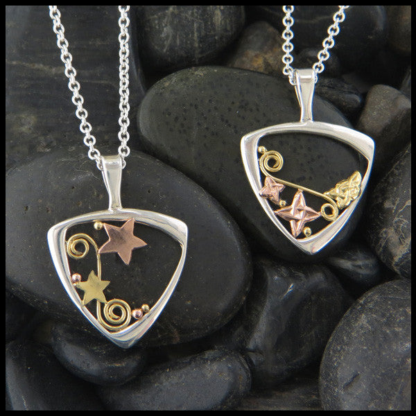 Celtic pendants in Sterling Silver and Gold