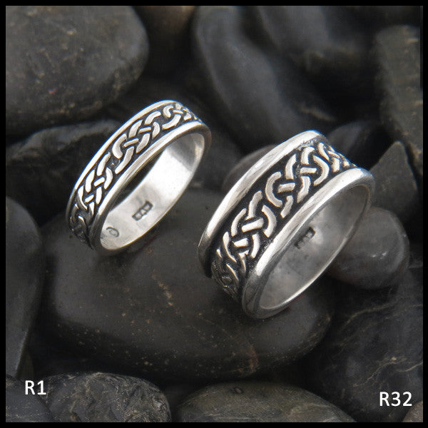 Josephine's Knot Celtic Band Ring in Sterling Silver