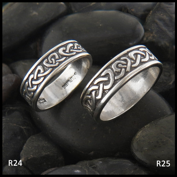 silver hdl rings fit comfort dragon irish wedding black knot celtic tungsten band mowom ring polished
