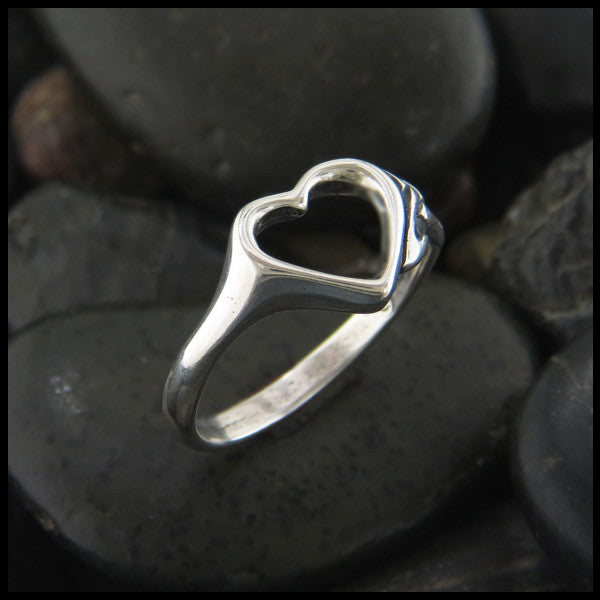 Celtic Trinity Knot Heart Ring in Sterling Silver