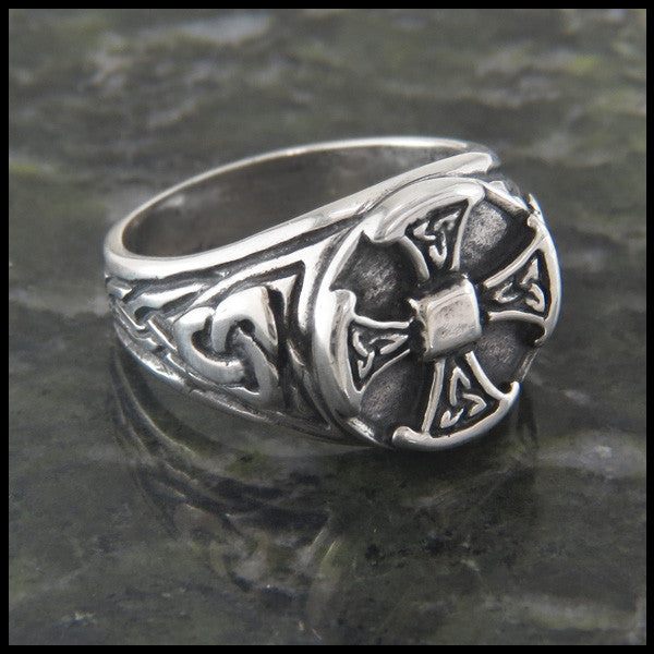 Brand new Large Celtic Cross Ring in Sterling Silver | Walker Metalsmiths  PH16