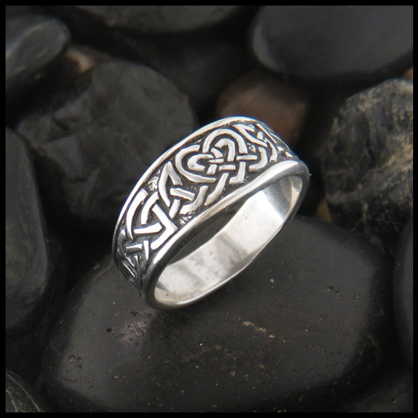 Heart Knot Tapered Ring in Sterling Silver