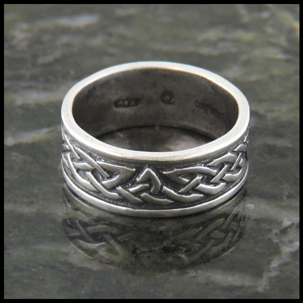 Trinity Knot Celtic Ring Band in Sterling Silver
