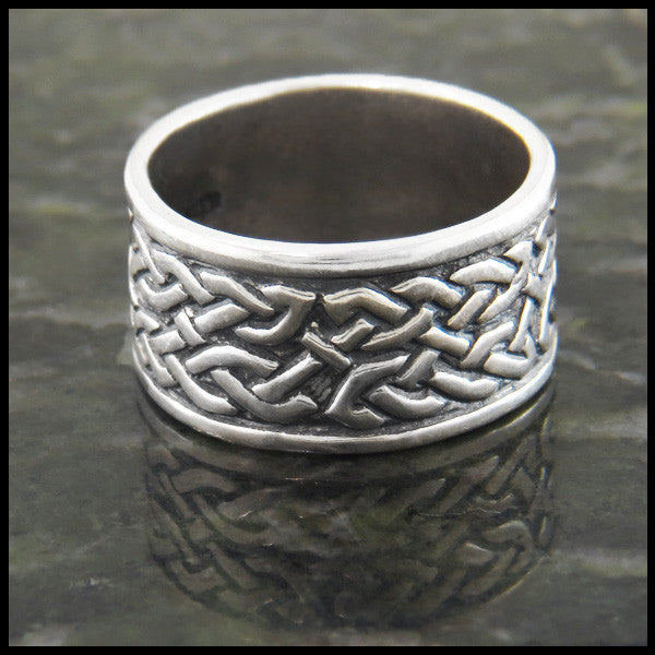 Men's Celtic Knot Band in Sterling Silver