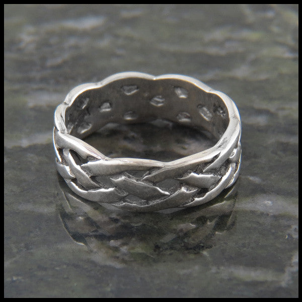 Open Celtic Knot Braided Band Ring Sterling Silver