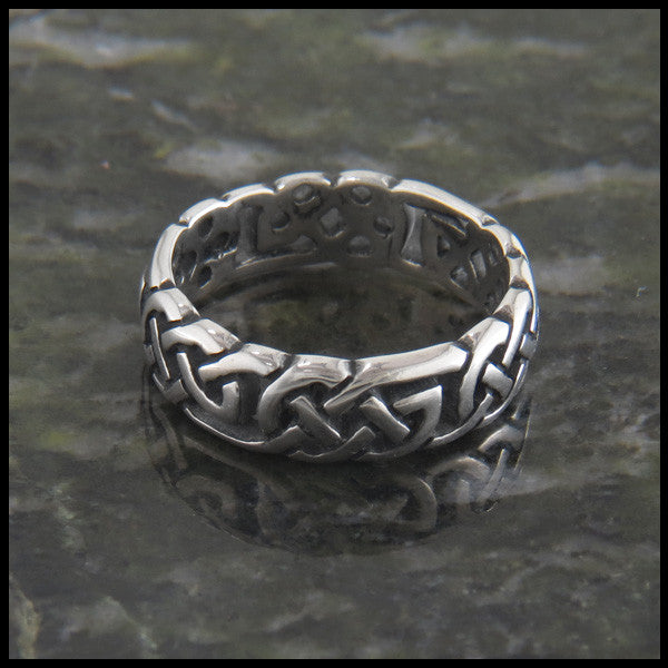 Open Celtic Knot Ring Band in Sterling Silver by Walker Metalsmiths