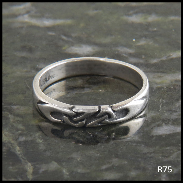 Trinity Knot Stacking Band Ring in Sterling Silver