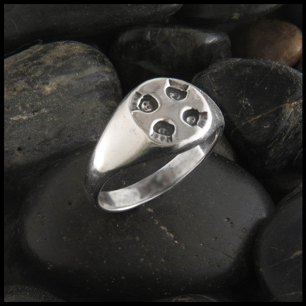 Plain Celtic Cross Ring in Sterling Silver