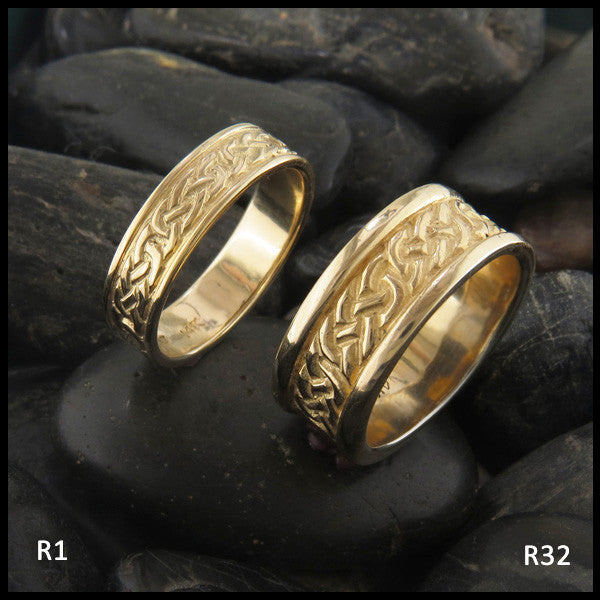 Gold Celtic Wedding Band