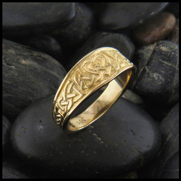 Heart Knot Tapered Ring in 14K Gold handcrafted by Walker Metalsmiths