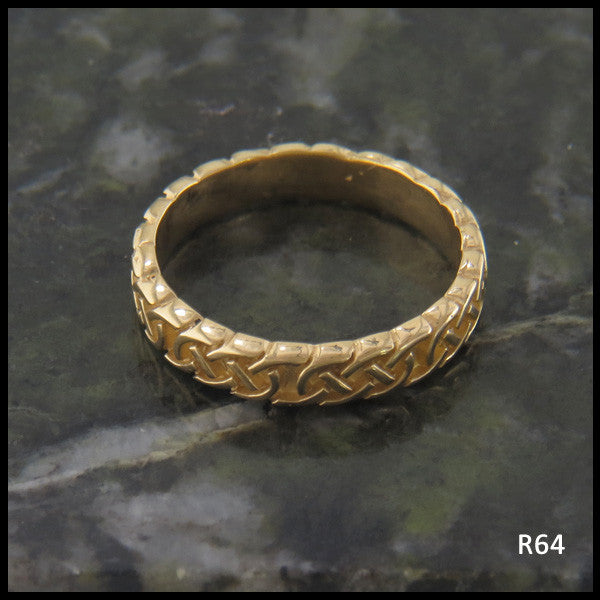 Narrow Josephine's Knot, Lover's Knot Stacking Bands in 14K Gold
