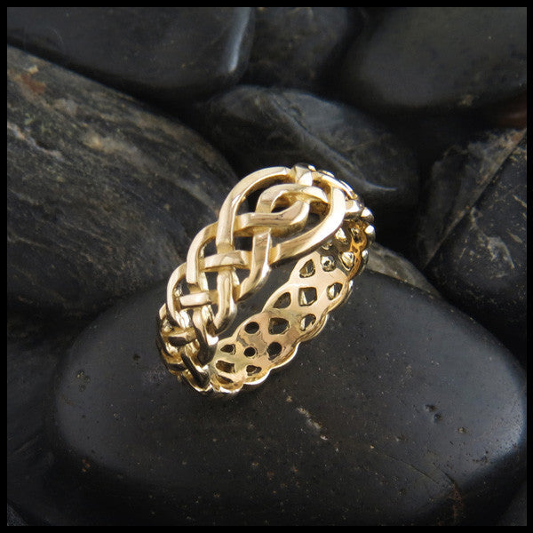Open Knot Celtic Gold Ring By Russel Caldwell Walker