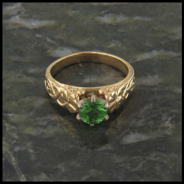 Shamrock Celtic Knot Ring in 14K Gold