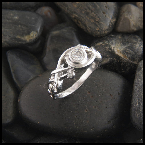 Diamond Bezel Set Celtic Engagement Ring