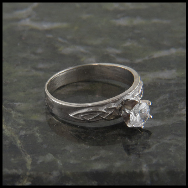 Simple Celtic Knot Diamond Engagement Ring