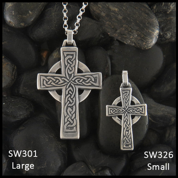 Sterling Silver Genesis Celtic Cross Pendant