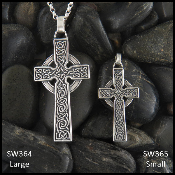 Sterling silver adomnan celtic cross pendant in sterling silver detailed celtic cross in sterling silver mozeypictures Image collections