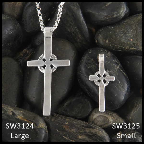 Sterling Silver Kilmory Celtic Cross Pendant