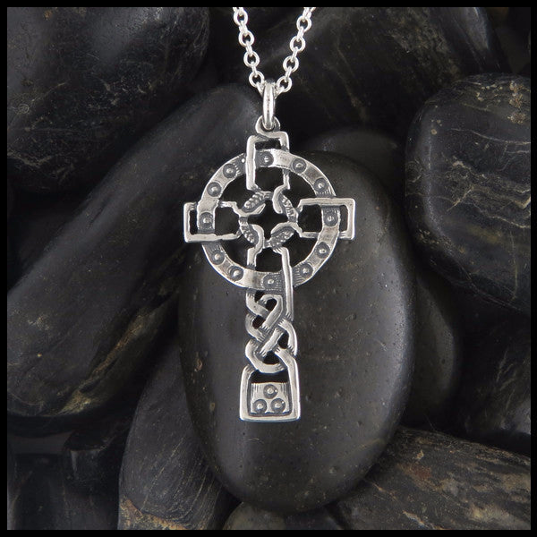 Unique Celtic Cross in Sterling Silver designed by Walker Metalsmiths