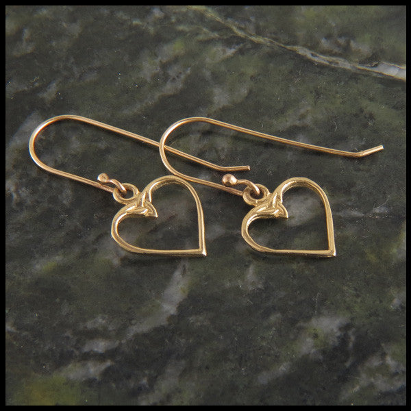 Colleen's Celtic Heart Earrings in 14K Gold